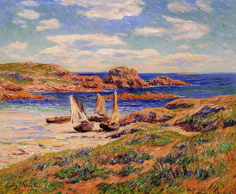 Porspoder the Port Finistere 1910. Henry Moret