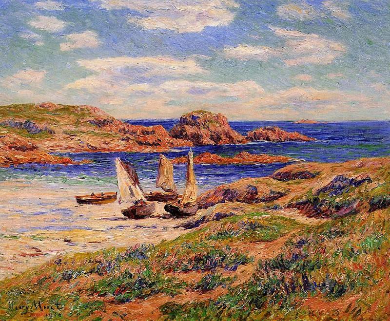 Порт Порсподер, департамент Финистер, 1910. Анри Море
