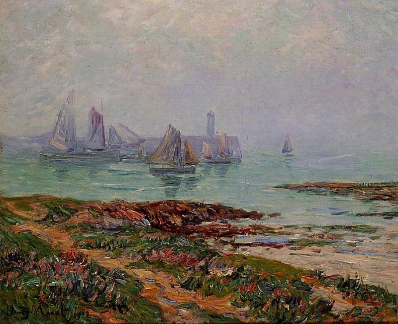 Misty Day at Dielette the Manche 1912. Henry Moret