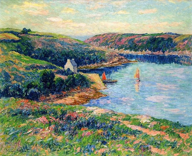 Река в Белоне, 1908. Анри Море