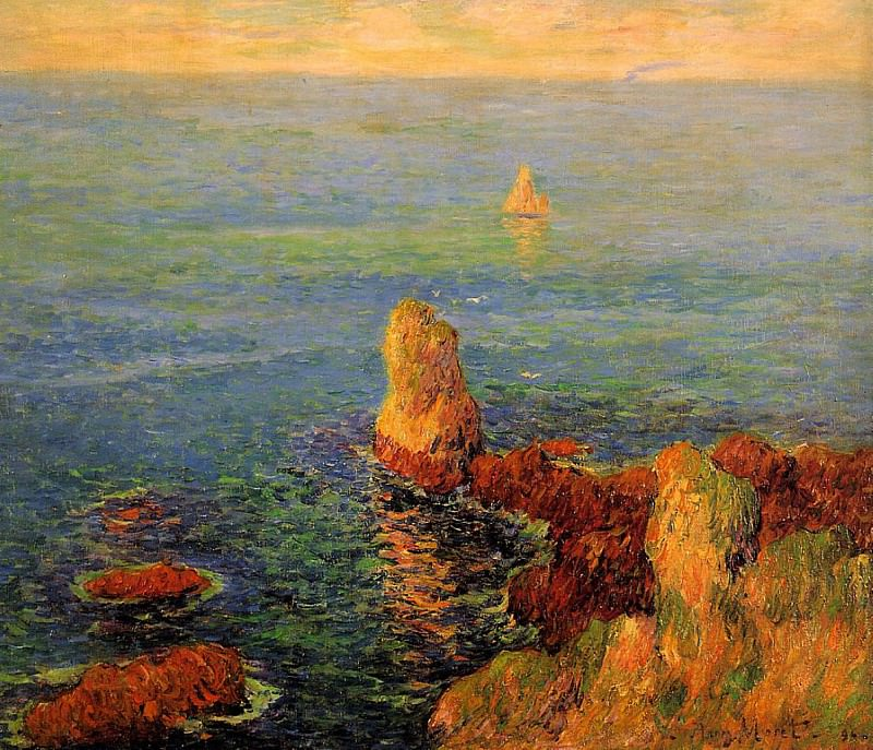 Calm Sea at LIle de Groux 1896. Henry Moret