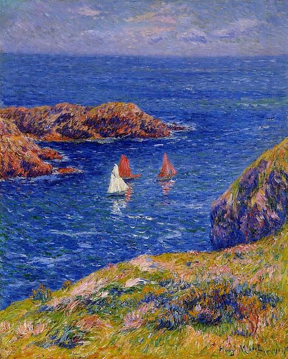 Quessant Calm Day 1905. Henry Moret
