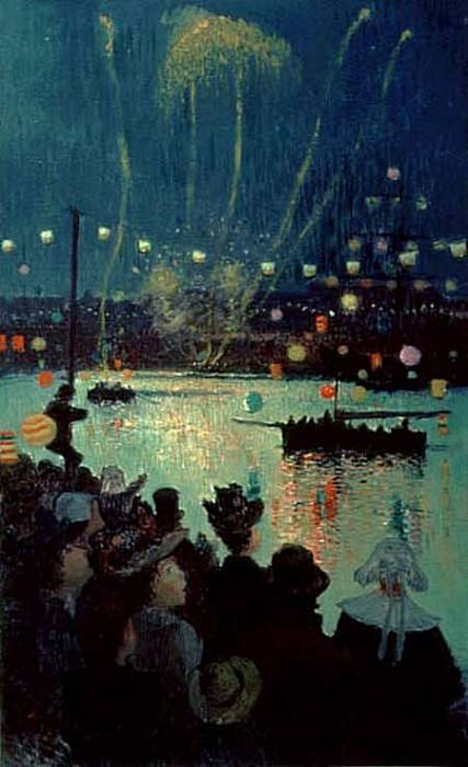 Празднование дня взятия Бастилии в Лорьяне. Анри Море