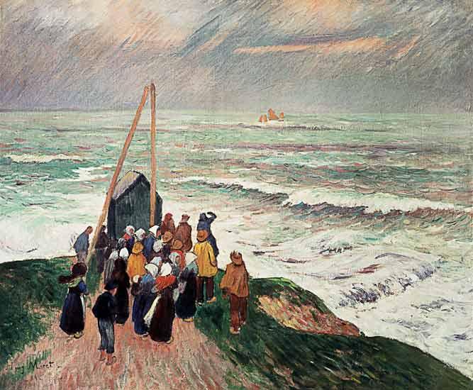 In Erwartung der Fischer. Henry Moret
