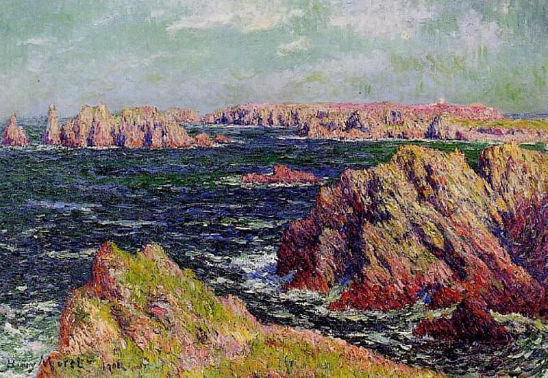 The Cliffs of Belle Ile. Henry Moret