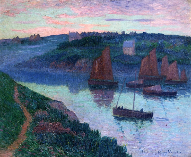 Fishing Boats in Brittany 1897. Henry Moret