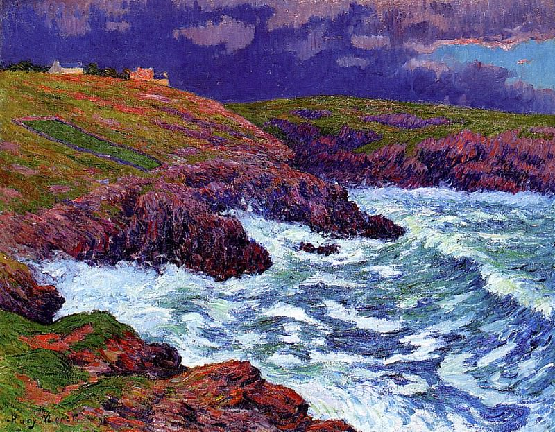 Storm the Coast of Finestere 1898. Henry Moret