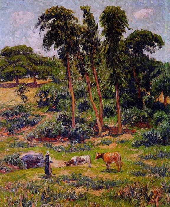 Peasant and Her Herd 1895 1910. Henry Moret
