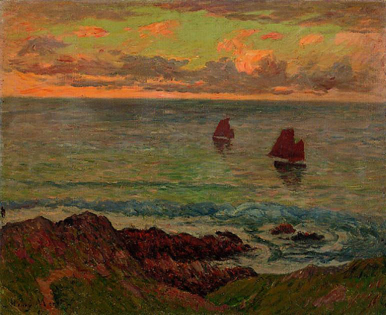 Evening at Doelan 1895. Henry Moret