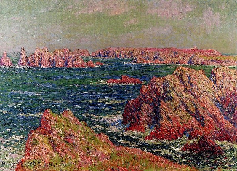 The Cliffs at Belle Ile 1901. Henry Moret
