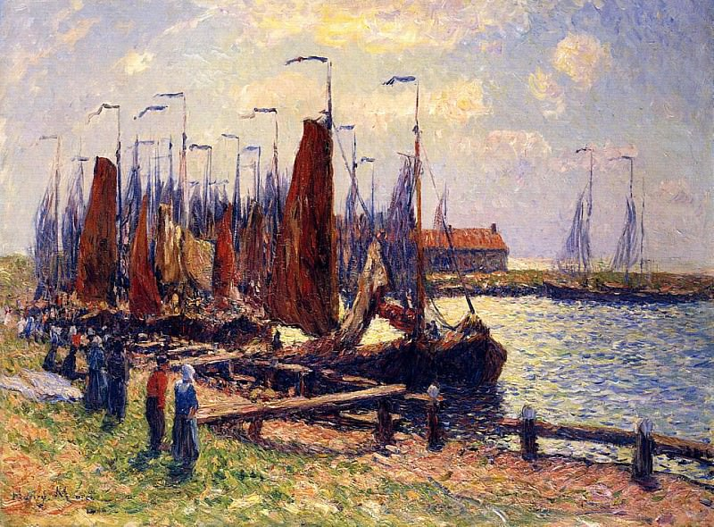 The Port of Volendam 1900. Henry Moret