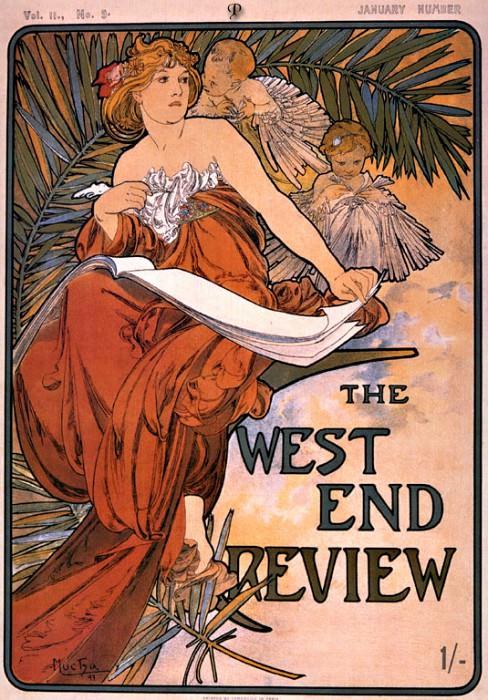 Обложка журнала WEST END REVIEW, 1898. Альфонс Мария Муха