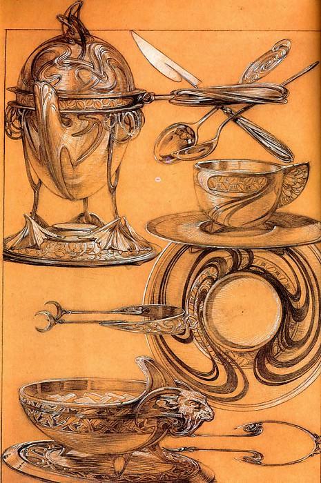 Лист из работы -Декоративные документы-, 1902. Альфонс Мария Муха
