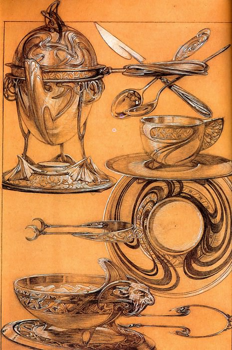 Studies 1902 52x39cm crayon gouache. Alphonse Maria Mucha