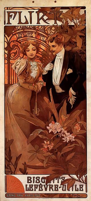 Flirt Lefevre-Utile. Alphonse Maria Mucha