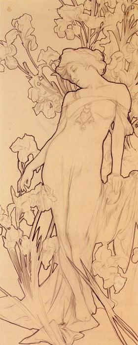 Iris. Alphonse Maria Mucha