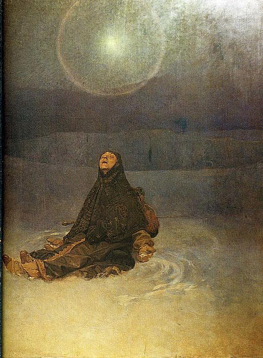 -Женщина в степи-, 1923. Альфонс Мария Муха