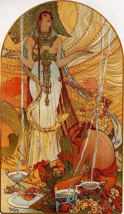 1896 Salammbo. Alphonse Maria Mucha