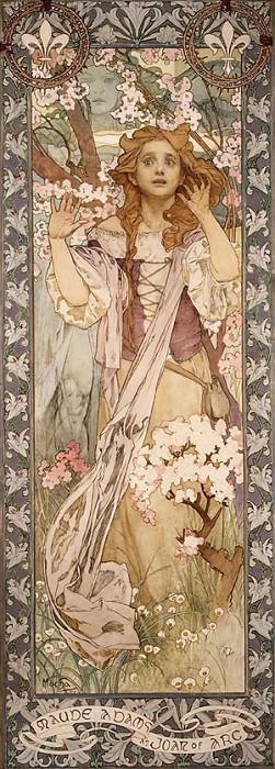 Mucha Alphonse Maud Adams as Joan of Arc. Alphonse Maria Mucha