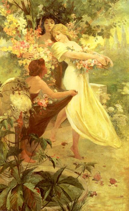 Spirit Of Spring. Alphonse Maria Mucha