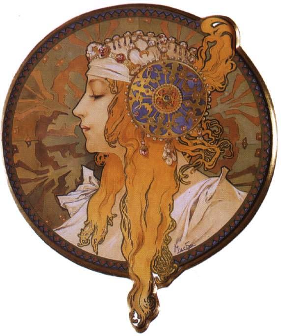 mucha1 blonde. Alphonse Maria Mucha