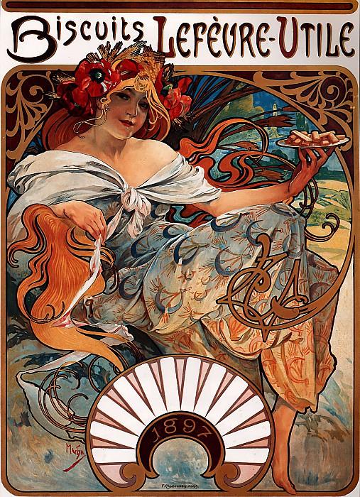 1897 Lefevre-Utile. Alphonse Maria Mucha