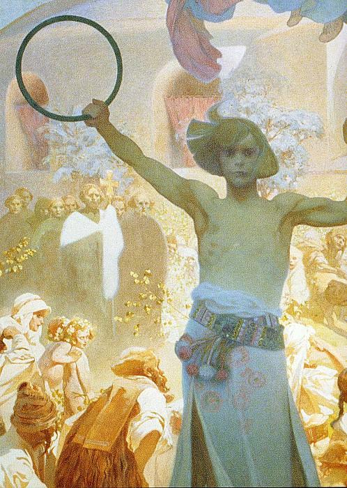 Введение славянской литургии, фрагмент (1912). Альфонс Мария Муха