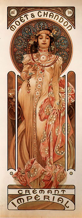 Moet & Chandon Crement Imperial. Alphonse Maria Mucha