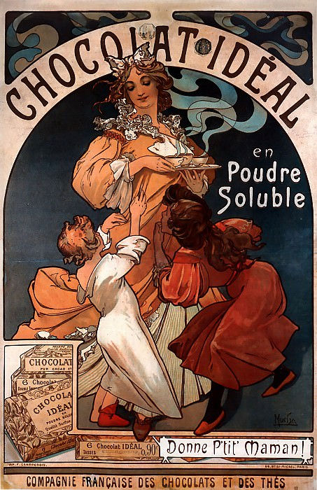 Chocolat Ideal. Alphonse Maria Mucha