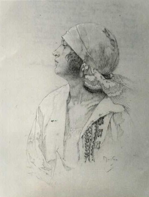 Дочь. Альфонс Мария Муха