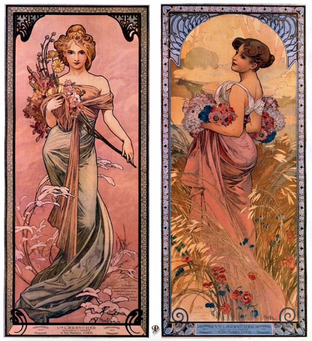 pcal am0600 the seasons spring-summer 1899. Alphonse Maria Mucha