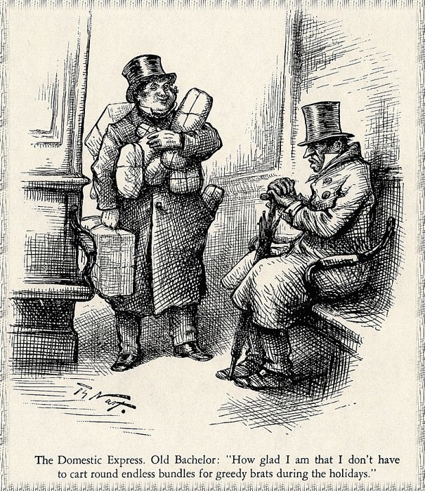 Old Bachelor. Thomas Nast