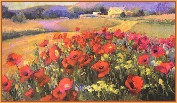 Colorado Poppy Patch. Shirley Novak