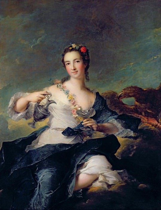 Portrait of a Young Woman as Hebe. Jean Marc Nattier
