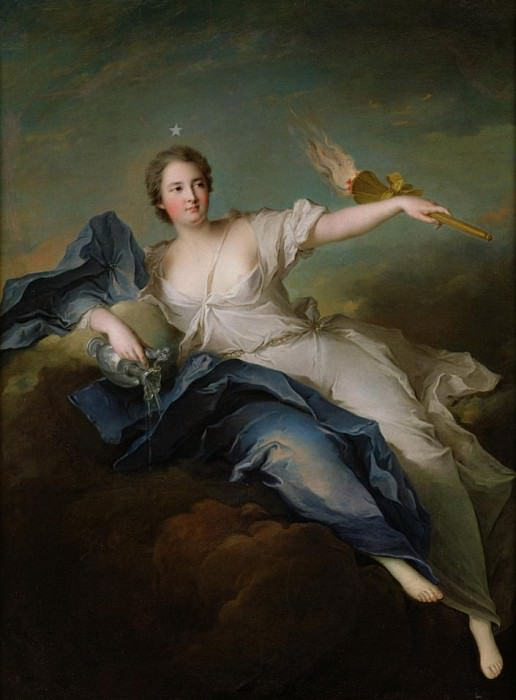 Portrait of Marie-Anne de Mailly-Nesle (1717-44) Marquise of La Tournelle as Eos. Jean Marc Nattier