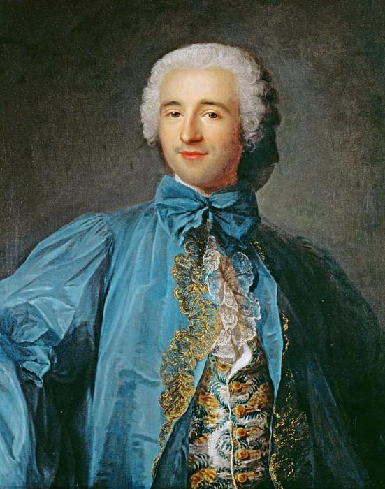 Portrait of a gentleman in a blue coat. Jean Marc Nattier
