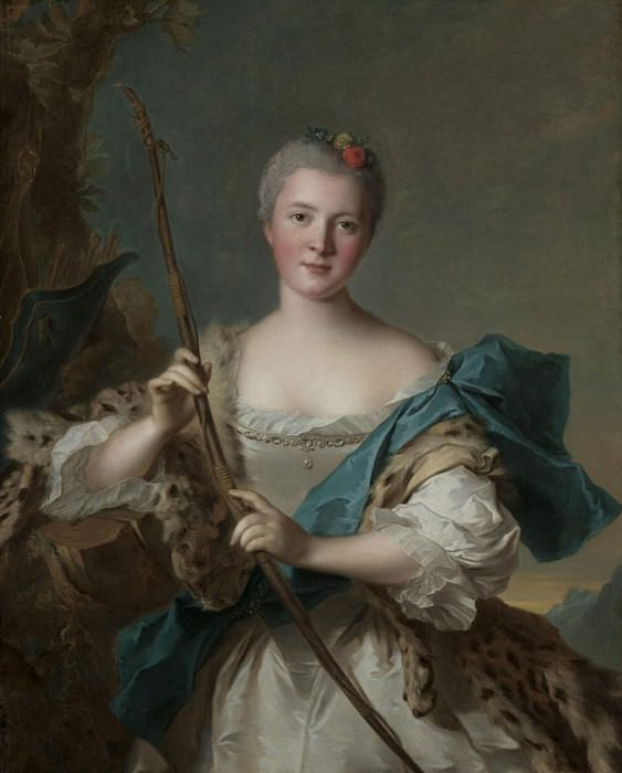 Portrait of a Woman as Diana. Jean Marc Nattier