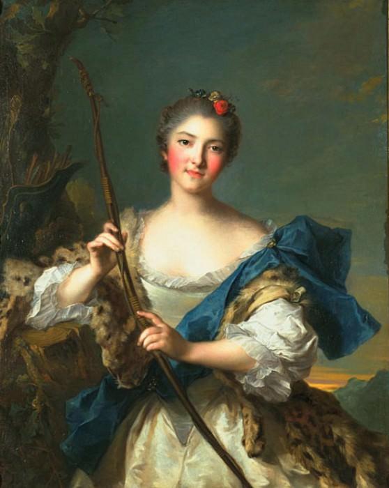 Mademoiselle de Migieu as Diana. Jean Marc Nattier