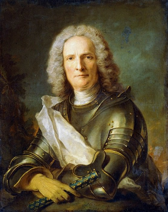 Portrait of a Marechal de France, probably Chretien-Louis de Montmorency-Luxembourg (1675-1746). Jean Marc Nattier
