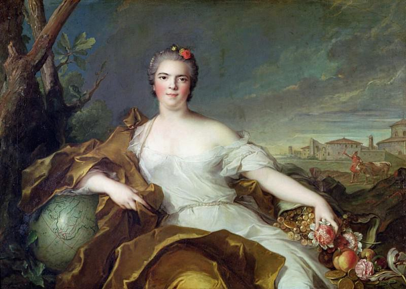 Louise-Elisabeth de France, as the element of Earth. Jean Marc Nattier