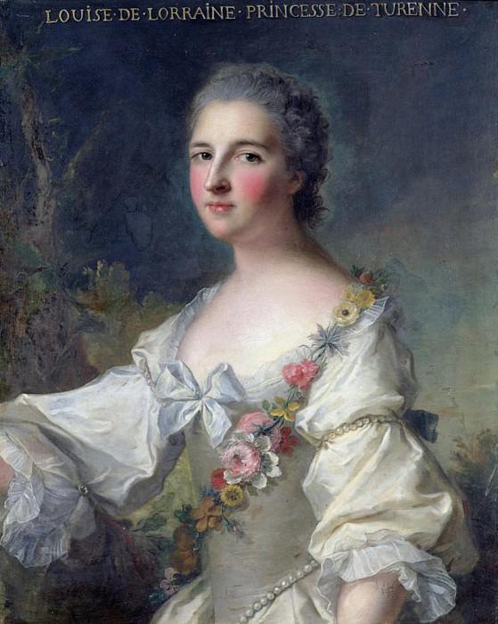 Louise-Henriette-Gabrielle de Lorraine (1718-88) Princess of Turenne and Duchess of Bouillon. Jean Marc Nattier