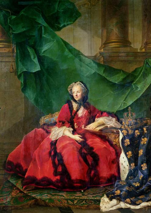 Portrait of Maria Leszczynska (1703-1768), in Daily Dress. Jean Marc Nattier