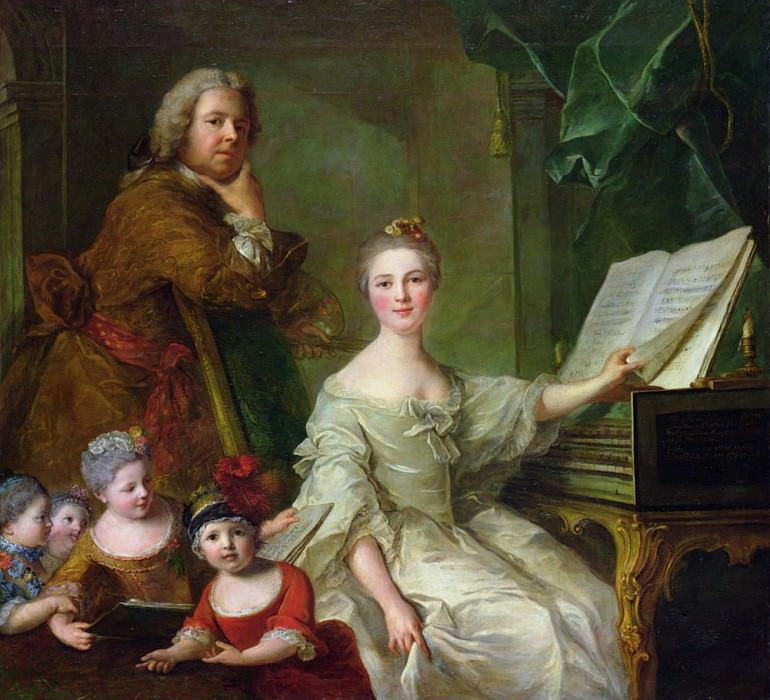 The Artist and his Family (1730-1762). Jean Marc Nattier
