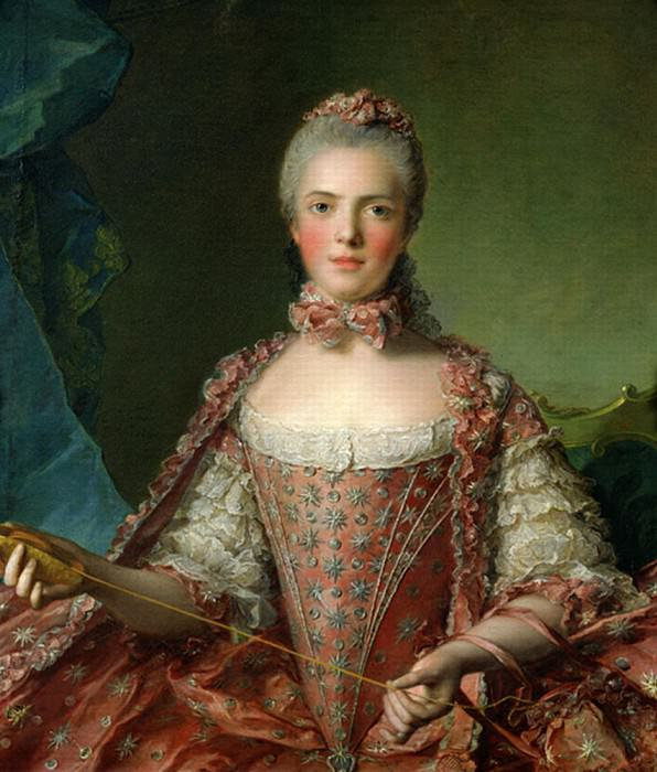 Portrait of Marie Adelaide (1759-1802). Jean Marc Nattier