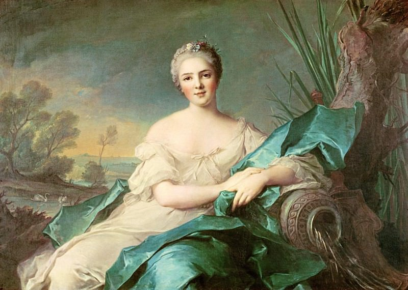 Victoire de France as the element of Water. Jean Marc Nattier