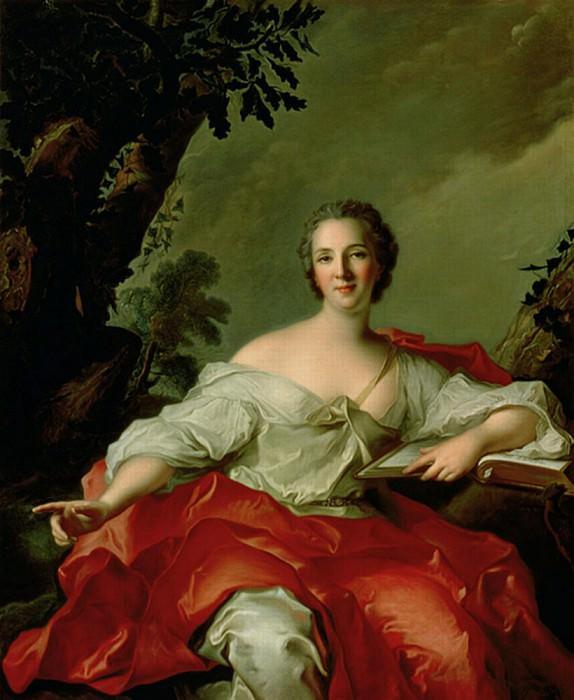 Portrait of Madame Geoffrin (1699-1777). Jean Marc Nattier