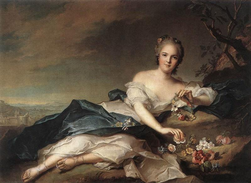 Henrietta Maria of France (1606-69) as Flora. Jean Marc Nattier