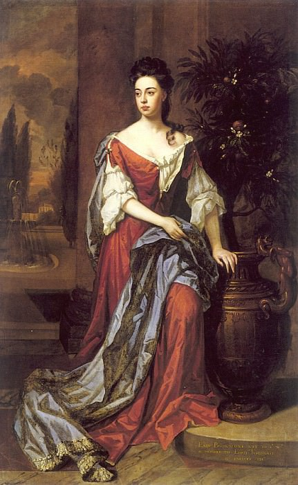 Dorothy Mason, Lady Brownlow, painted c. 1680. Сэр Годфри Неллер