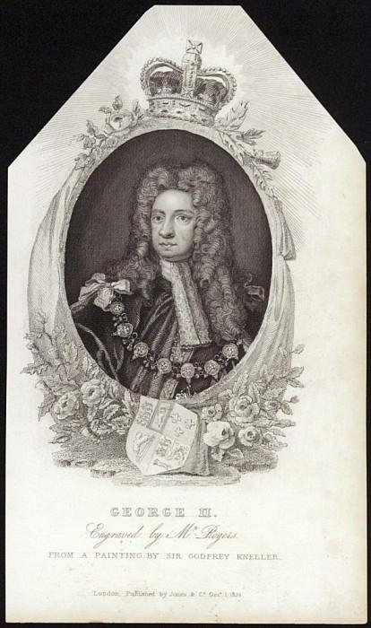 Георг II, Король Великобритании и Ирландии. Сэр Годфри Неллер