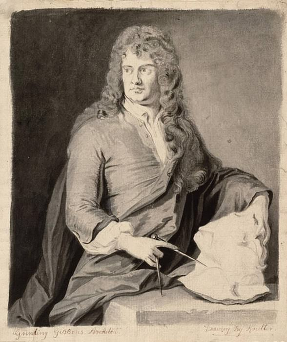 Portrait of Grinling Gibbons. Sir Godfrey Kneller